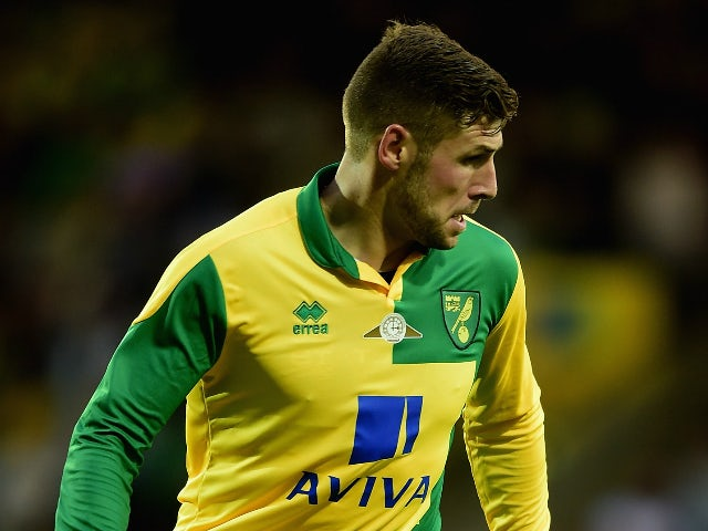 Gary Hooper of Norwich City in action during the pre season friendly match between Norwich City and West Ham United at Carrow Road on July 28, 2015 in Norwich, England