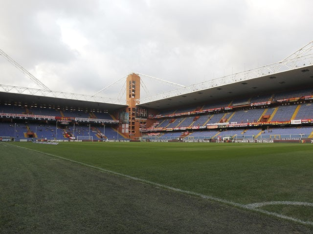 General view before during the Serie A match between Genoa CFC and SSC Napoli at Stadio Luigi Ferraris on August 31, 2014