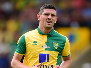 Graham Dorrans of Norwich City in action during the pre season friendly match between Norwich City and Brentford at Carrow Road on August 1, 2015 in Norwich, England.