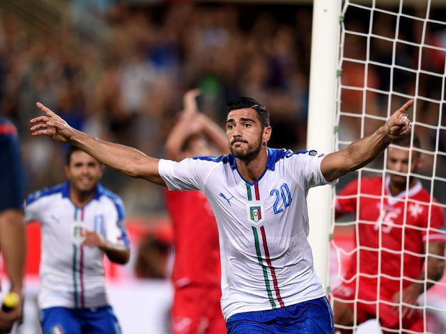 Graziano Pelle of Italy celebrates after scoring the opening goal during the EURO 2016 Group H Qualifier match between Italy and Malta during the UEFA EURO 2016 qualifier between Italy and Malta on September 3, 2015
