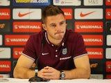 England keeper Jack Butland speaks to the media on September 2, 2015