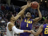 Jarell Martin #1 of the LSU Tigers plays against the North Carolina State Wolfpack during the second round of the 2015 NCAA Men's Basketball Tournament at Consol Energy Center on March 19, 2015 in Pittsburgh, Pennsylvania.