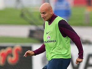 Jonjo Shelvey in action during an England training session on September 2, 2015