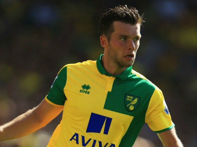 Jonathan Howson of Norwich City in action during the Barclays Premier League match between Norwich City and Crystal Palace at Carrow Road on August 8, 2015 in Norwich, England.