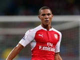 Kieran Gibbs of Arsenal in action during the Barclays Asia Trophy final match between Arsenal and Everton at the National Stadium on July 18, 2015
