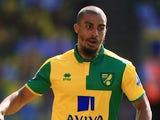 Lewis Grabban of Norwich City in action during the Barclays Premier League match between Norwich City and Crystal Palace at Carrow Road on August 8, 2015 in Norwich, England.