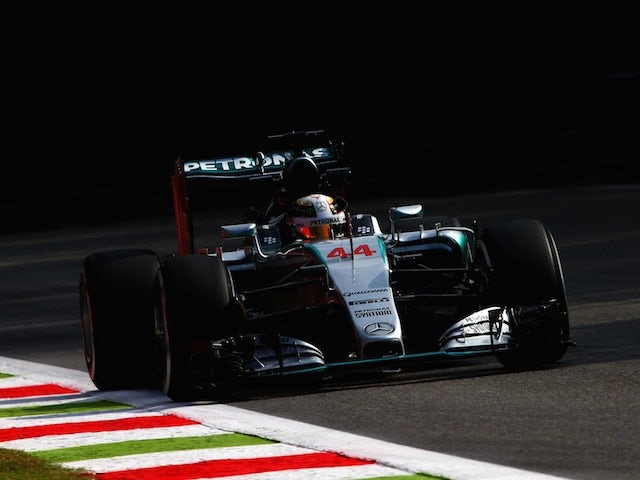 Lewis Hamilton in action during the Italian GP practice on September 4, 2015