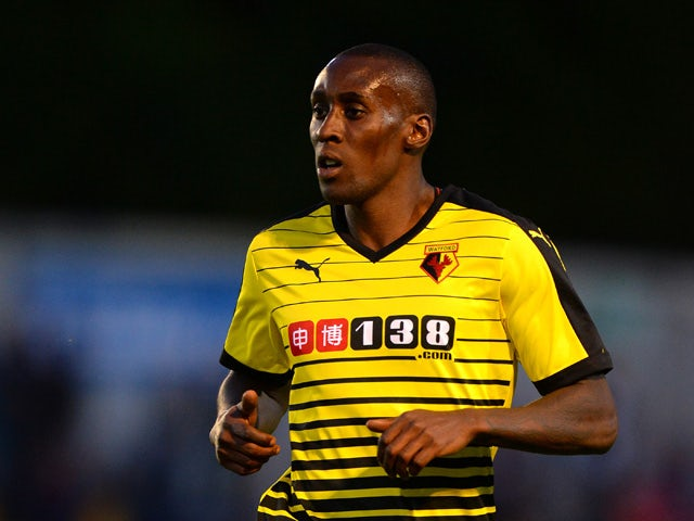 Lloyd Dyer of Watford during the Pre Season Friendly match between St Albans City and Watford at Clarence Park on July 8, 2015