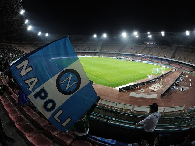 General view of Stadio San Paolo before the Tim cup match between SSC Napoli and Atalanta BC at Stadio San Paolo on January 15, 2014