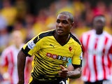 Odion Ighalo of Watford in action during the Barclays Premier League match between Watford and Southampton at Vicarage Road on August 23, 2015
