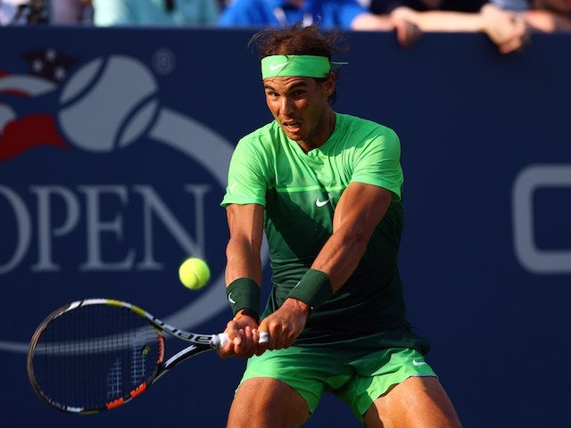 Rafael Nadal dressed as a promiscuous lime during round two of the US Open on September 2, 2015