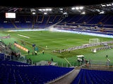 A general view of empty stands empty during the the Serie A match between AS Roma and UC Sampdoria at Stadio Olimpico on February 16, 2014