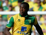 Sebastien Bassong of Norwich City during the Barclays Premier League match between Norwich City and Stoke City at Carrow Road on August 22, 2015 in Norwich, United Kingdom.