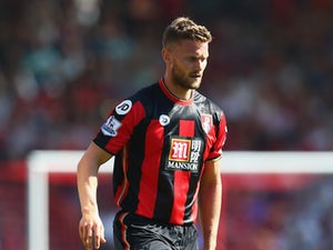 Simon Francis of AFC Bournemouth during the Barclays Premier League match between Bournemouth and Aston Villa at the Vitality Stadium on August 8, 2015 in Bournemouth, England.