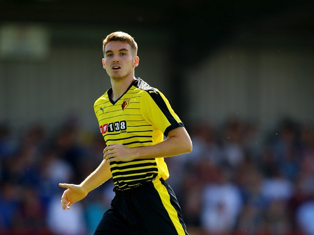 Tommie Hoban of Watford during the Pre Season Friendly match between AFC Wimbledon and Watford at The Cherry Red Records Stadium on July 11, 2015