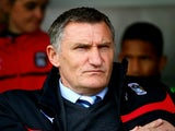 Tony Mowbray, manager of Coventry City looks on prior the Sky Bet League One match between Crawley Town and Coventry City at The Checkatrade.com Stadium on May 3, 2015 in Crawley, West Sussex.