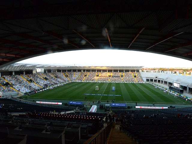 General View of the stadium prior to the Serie A match between Udinese Calcio and US Citta di Palermo at Stadio Friuli on August 30, 2015