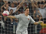 Wojciech Szczesny of AS Roma in action during the pre-season friendly match between AS Roma and Sevilla FC at Olimpico Stadium on August 14, 2015