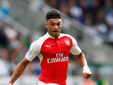 Alex Oxlade-Chamberlain of Arsenal in action during the Barclays Premier League match between Newcastle United and Arsenal at St James' Park on August 29, 2015