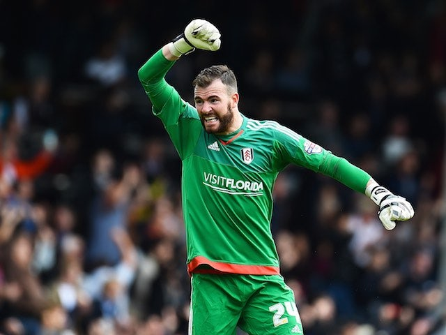 Fulham keeper Andy Lonergan in action during the game with Blackburn on September 13, 2015