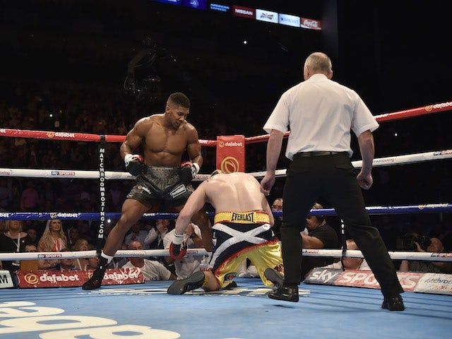 Anthony Joshua knocks out Gary Cornish in the first round on September 12, 2015