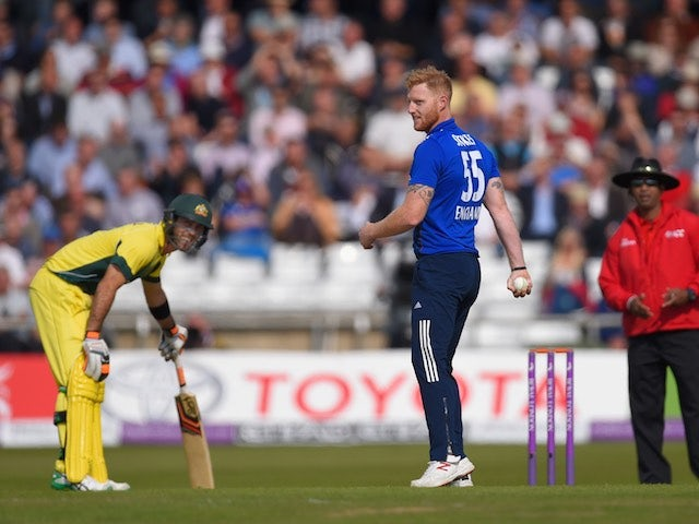 England's Ben Stokes flashes a grin during the ODI with Australia on September 11, 2015