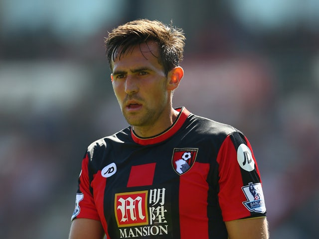 Charlie Daniels of AFC Bournemouth during the Barclays Premier League match between Bournemouth and Aston Villa at the Vitality Stadium on August 8, 2015
