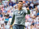 Cristiano Ronaldo celebrates scoring his fifth against Espanyol on September 12, 2015