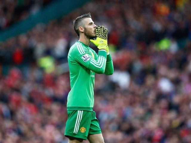 Man Utd keeper David de Gea in action during the game with Liverpool on September 12, 2015