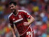 David Nugent of Middlesbrough in action during the Sky Bet Championship match between Middlesbrough v Bristol City at Riverside Stadium on August 22, 2015 in Middlesbrough, England.