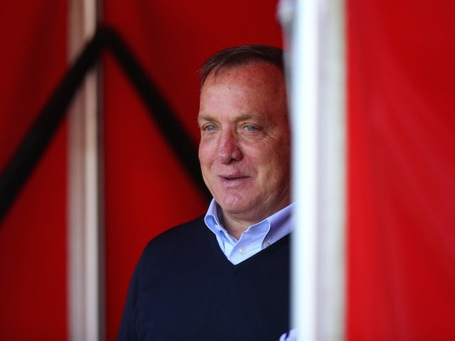 Sunderland boss Dick Advocaat lurks suspiciously in the tunnel ahead of the game with Spurs on September 13, 2015