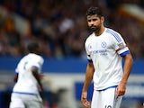 Chelsea's Diego Costa looks downbeat during the match with Everton on September 12, 2015