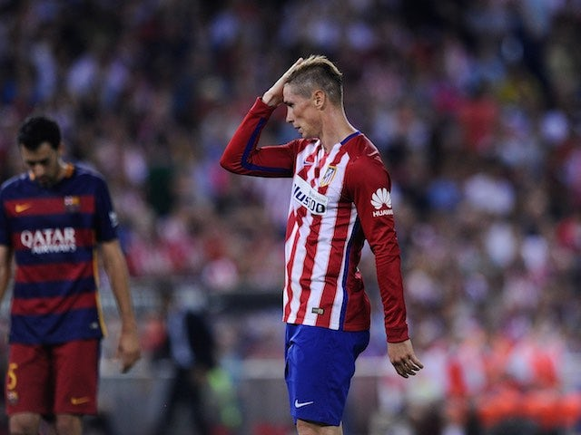 Atletico Madrid's Fernando Torres in action during the game with Barcelona on September 12, 2015