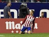 Fernando Torres drops to his knees after scoring for Atletico Madrid against Barcelona on September 12, 2015