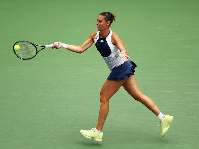 Flavia Pennetta in action during the US Open semi-final on September 11, 2015