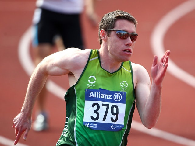 Jason Smyth of Ireland competes in the mens 200m T12 semi final during day three of the IPC Athletics European Championships at Swansea University Sports Village on August 21, 2014