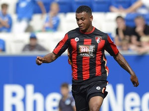 Joshua King of Bournemouth controls the ball during the friendly match between 1899 Hoffenheim and AFC Bournemouth at Wirsol Rhein-Neckar-Arena on August 1, 2015