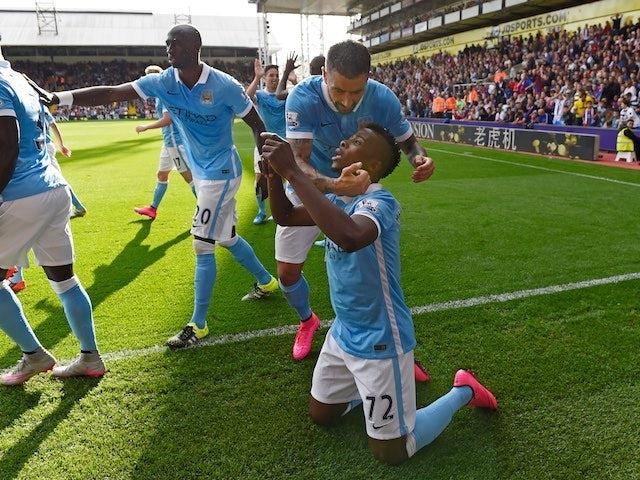 88cb4231ea9 Kelechi Iheanacho celebrates scoring the winner for Man City against Palace  on September 12