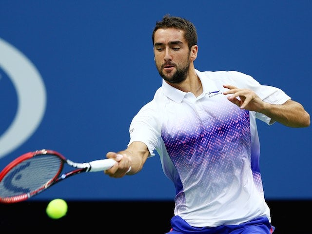 Marin Cilic in action during his US Open semi-final with Novak Djokovic on September 11, 2015