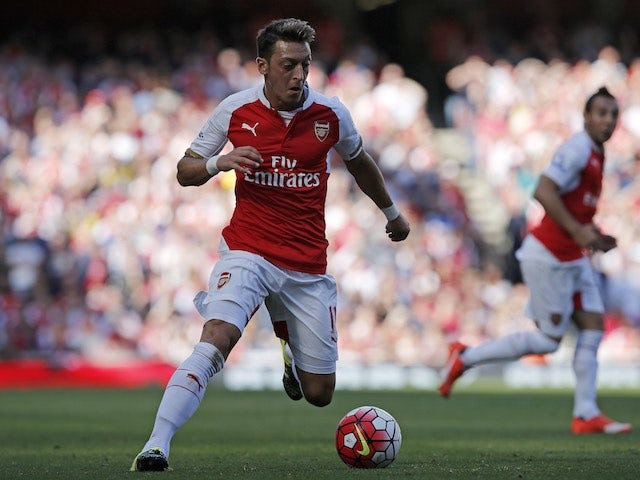 Mesut Ozil in action during Arsenal's game with Stoke on September 12, 2015