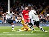 Moussa Dembele scores for Fulham against Blackburn on September 13, 2015