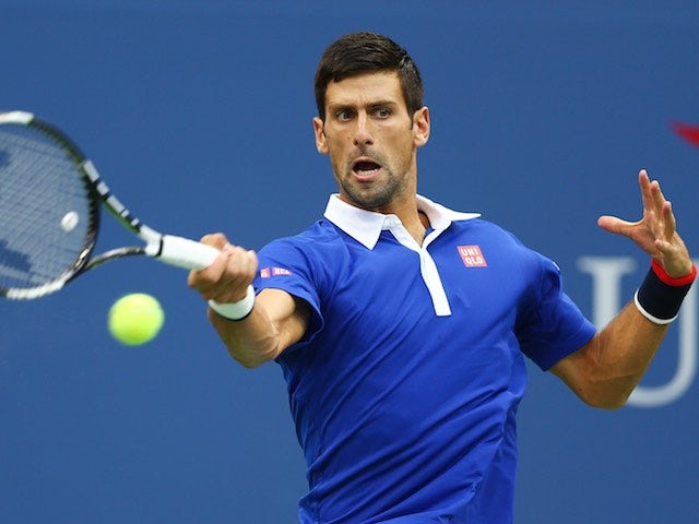 Novak Djokovic in action during his US Open semi-final on September 11, 2015