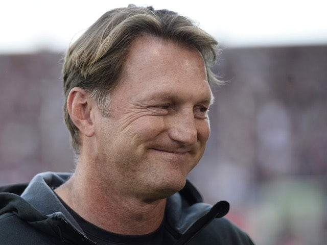 Ingolstadt head coach Ralph Hasenhuettl arrives for the game with Wolfsburg on September 12, 2015