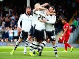 Ross McCormack celebrates scoring for Fulham on September 13, 2015