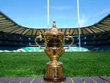 A picture shows the Webb Ellis Cup, the trophy awarded to the winner of the Rugby World Cup, during a photo call at a press conference to launch the venues and schedule for the 2015 Rugby World Cup at Twickenham Stadium in west London, on May 2, 2013.
