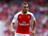 Santi Cazorla of Arsenal in action during the Barclays Premier League match between Arsenal and West Ham United at the Emirates Stadium on August 9, 2015