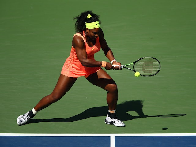 Serena Williams in action during her US Open semi-final on September 11, 2015