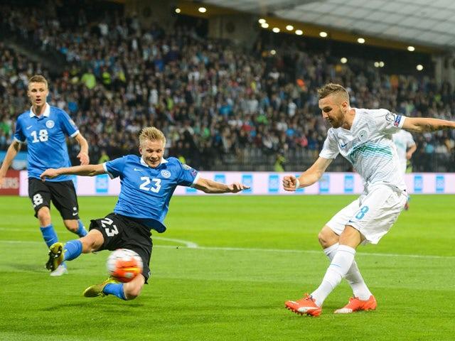 Result: Slovenia edge Estonia through Beric goal