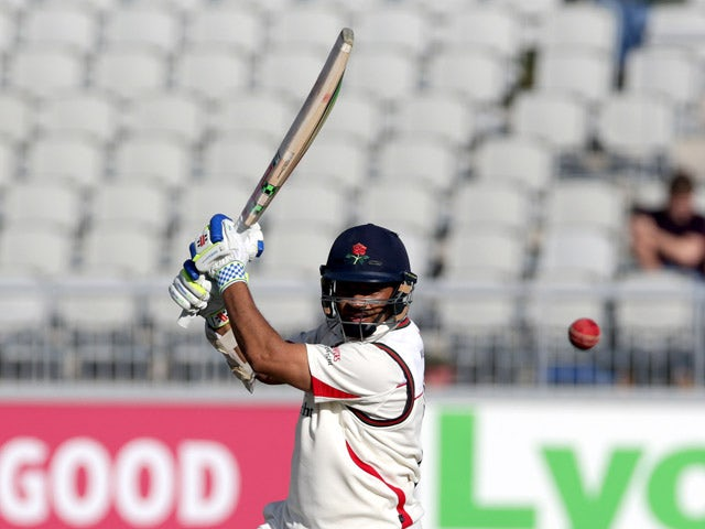 Ashwell Prince of Lancashire bats during day two of the LV County Championship Division Two match between Lancashire and Surrey at Emirates Old Trafford on September 15, 2015