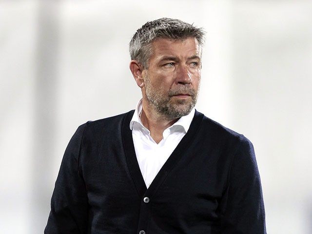 Urs Fischer manager of FC Basel 1893 looks on during the UEFA Europa League match between Fiorentina and Basel on September 17, 2015